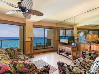 Poipu Shores 304A: Ocean Front Condo Near Poipu Beach
