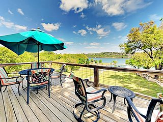 Lakefront Haven on Peaceful Cove - Private Boat Dock, Patio & Deck w/ Grill