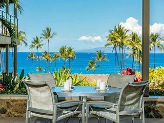 Wailea Elua #2303 1Bd/2Ba Luxury, Ocean View, Ground Flr Central Air Sleeps 2