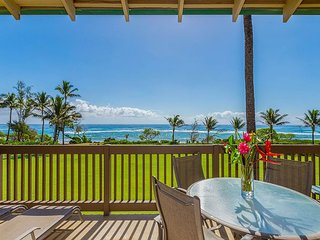 Kaha Lani Resort #218, 2BR Beautifully  Remodeled, Pristine Oceanfront Views