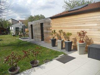 Maison sur jardin toute équipée