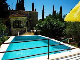Stone Villa with pool for rent Cilipi Cavtat area