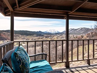 Hillside Cabin with Fireplace, Wrap Around Porch & Incredible Views, Near Skiing