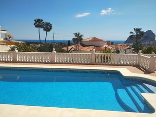 Nice Villa Gaviota Calpe,12p,seaview,private pool,wifi,sky