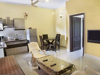 Cosy 1-BHK for 3 with a shared pool, near Chapora Beach-60500