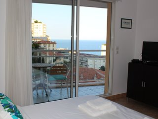 Monaco, sea view, bright studio with balcony