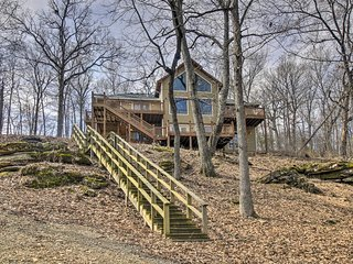 NEW! Beaver Lake Home w/Decks, Fire Pit, Boat Dock