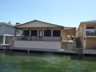 Colorado River House with boat dock