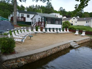 Lake Winnipesaukee!  Waterfront!  Private Beach!  Sleeps 4!  Super Clean!