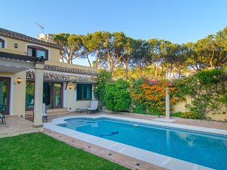 New Golden Mile villa with private garden and heated pool