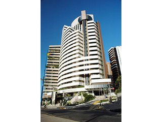 Flat com vista mar na Beira Mar de Fortaleza 203 (dentro de hotel famoso)