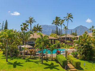 Mauna Kai 17 Gorgeous Hanalei waterfall views, short walk to Anini beach, shops,