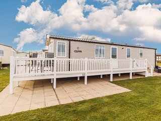 Luxury caravan for hire  at Hopton Haven park with decking ref 80022W