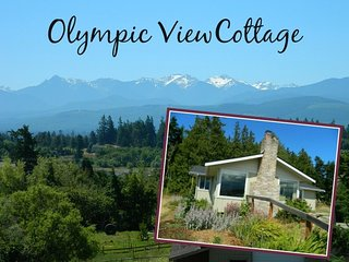 Olympic View Cottage with panoramic views and walking distance to beach