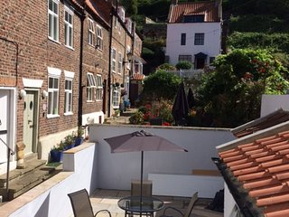 Crystal Cottage Whitby, with private courtyard.