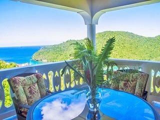 The amazing Villa Isis in Marigot's Bay! Best views in all Marigot's Bay!