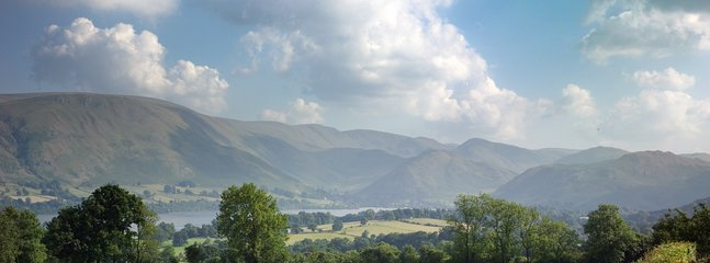 Stunning views from the Barn of Lake Ullswater and the surrounding mountains