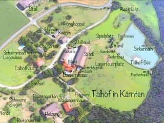 Eine Skizze vom Talhof da könnt Ihr sehen, wo was ist