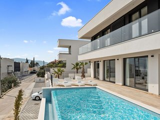 Modern White Palm Villa,in Dalmatia,with a Pool
