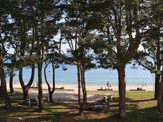 Magnifique vue mer des deux pieces de l'appartement face a la plage du Trez