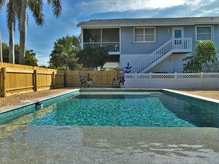 Walking distance to the beach with heated pool