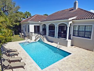 Waterfront luxury home w/ heated pool, dock, more