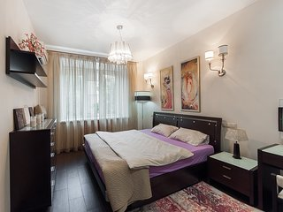 Modern 3-room flat Moscow center