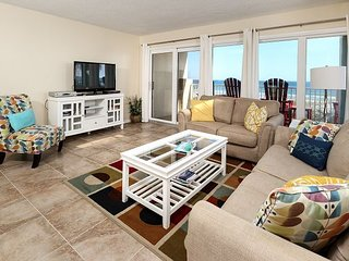 Gulfside 203:WRAP AROUND BALCONY, GORGEOUS UPGRADES - FLOORING AND FURNITURE!