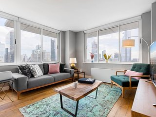 Gorgeous 2BR, 2BA, Pool + Doorman, near Times Sq by Blueground