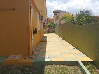 Walkway at side of house.