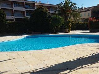 Beau T2 entierement renove a 5mn des plages avec piscine et parking prive.