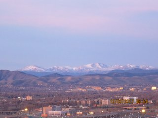DENVER DOWNTOWN WITH A MOUNTAIN VIEW
