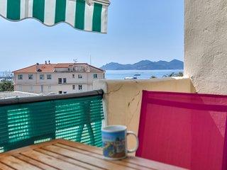 IMMOGROOM - Sea View - A/C- Balcony - 5 min from the beach-CONGRESS/BEACHES