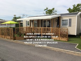 VALRAS PLAGE MOBIL HOME NEUF SPACIEUX 6 PERSONNES TOUT CONFORT CLIMATISE 40 m2