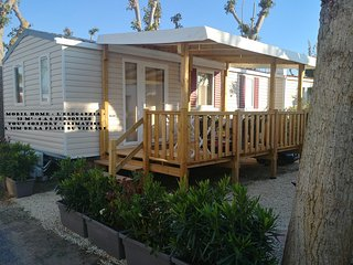 VALRAS PLAGE MOBIL HOME NEUF SPACIEUX 6 PERSONNES TOUT CONFORT CLIMATISE 32 m²