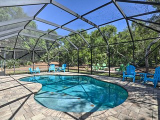 St. Augustine Home with Pool, Walk to Beach!