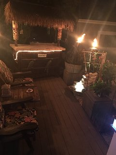 tiki bar and fountain. Another space to hang out