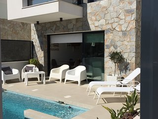 Stunning new villa by the sea, newly built and released for holiday rental