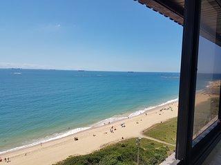 Lindo Flat, Praia da Costa, vista panorâmica para o mar, ar. cond, Wi-Fi, Lazer