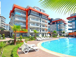 1-bedroom apartment in a luxury complex with sea, water park and garden views
