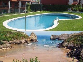 Apartamento con piscina, entre el mar y la montana