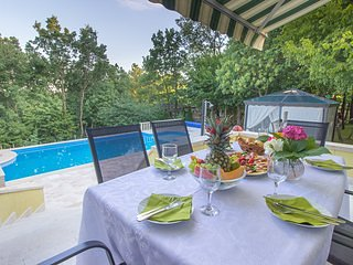 Beautiful private holiday home with private pool up to 7 persons, vacation rental in Donje Ogorje