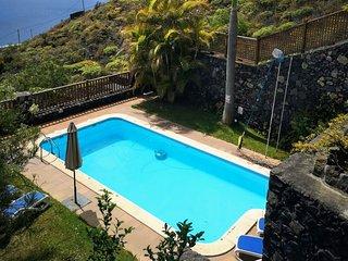 Tkasita La Reverica 1 con Piscina y Asadero. La Palma, Islas Canarias