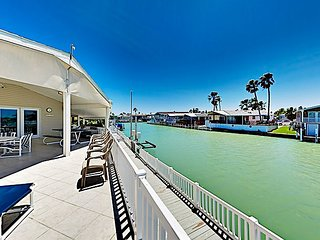 Waterfront Home w/ Views of Channel, Expansive Covered Deck & 2 Pools!