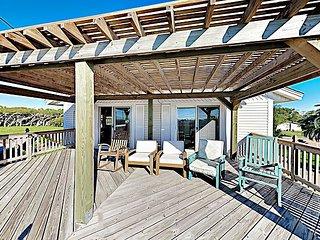 Coastal Home w/ Covered Deck, Expansive Yard, Boat Port & Bay Views