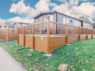 Stunning 4 berth lodge with full lake view with D/G and C/H. Pets welcome. 16005