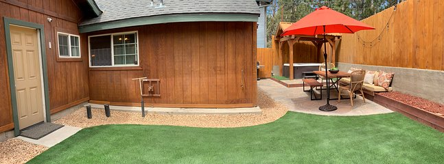 Newly remodeled yard