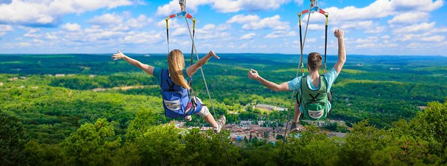 Try a zipline ride at Camelbeach Waterpark. Also has treetop rope coarses & mountain coaster