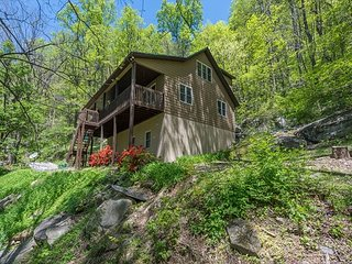 Buz Inn | Beautiful home tucked in the woods | Hot tub & Pet friendly!
