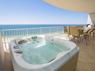 Lazy River ~ Balcony Hot Tub and Grill ~ Gulf  Front ~ Sleeps 10 ~ Turquoise Pla